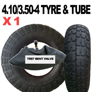 4.10/3.50-4 TYRE & TUBE SET BLOCK TREAD SACK  TRUCK & CART